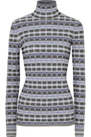 Theory Checked Jacquard Turtleneck at Net a Porter