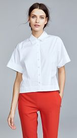 Theory Cropped Button Down Shirt at Shopbop