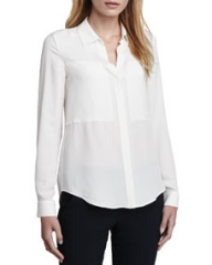 Theory Durlia Silk Blouse at Neiman Marcus