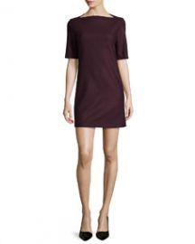 Theory Harkin Half-Sleeve Shift Dress at Neiman Marcus