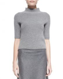 Theory Jodi Ribbed Knit Mock-Neck Sweater at Neiman Marcus