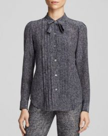Theory Justeen Silk Tweed Blouse - Bloomingdaleand039s Exclusive at Bloomingdales