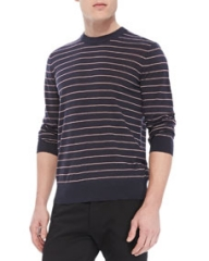 Theory Laine Sweater in New Sovereign Wool Navy at Neiman Marcus