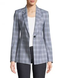 Theory Maple Check 2 Power Jacket   Neiman Marcus at Neiman Marcus