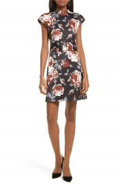 Theory Mod Belted Floral Dress at Nordstrom
