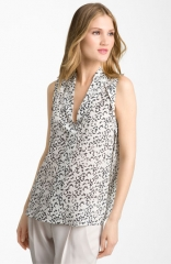 Theory Moha - Abstract Print Silk Top at Nordstrom