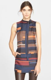 Theory Nitee Print Silk Top at Nordstrom