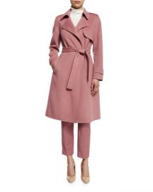 Theory Oaklane New Divided Open-Front Trench Coat  Pink Willow at Neiman Marcus
