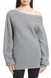 Theory One-Shoulder Merino Wool Sweater at Nordstrom