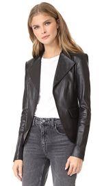 Theory Peplum Leather Jacket at Shopbop