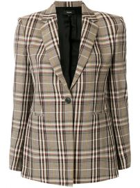 Theory Plaid Blazer  693 - Shop AW17 Online - Fast Delivery  Price at Farfetch