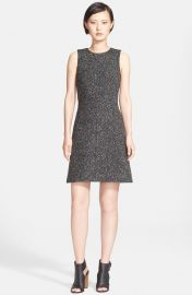 Theory Raneid Wool Blend A-Line Dress in Black at Nordstrom