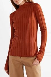 Theory Ribbed merino wool turtleneck sweater at Net A Porter