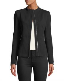 Theory Sculpted Knit Twill 2 Jacket at Neiman Marcus