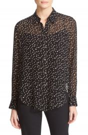 Theory Sunaya NC Starry Print Silk Blouse at Nordstrom