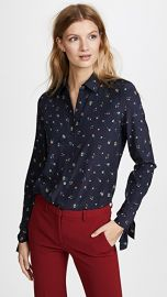 Theory Tie Cuff Shirt at Shopbop