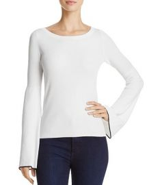 Theory Tipped Bell Sleeve Sweater at Bloomingdales