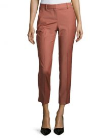 Theory Treeca Cl  Continuous Cropped Pants Deep Rose at Neiman Marcus