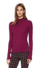 Theory Womens Wide Rib Mock PO Top at Amazon