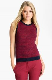 Theory and39Chaz Band39 Marled Cotton andamp Cashmere Vest Sweater at Nordstrom