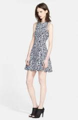 Theory and39Maydraand39 Print Cotton Fit andamp Flare Dress at Nordstrom