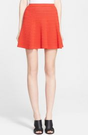Theory and39Rortieand39 Textured Flare Skirt at Nordstrom