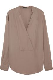 TheoryandnbspandnbspCorbette silk-georgette blouse at Net A Porter