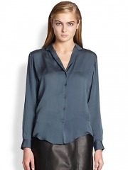 Theyskens Theory - Brana Fayl Silk Blouse at Saks Fifth Avenue