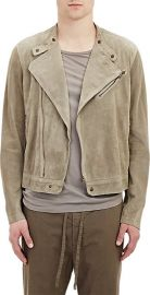 Thomas Maier Suede Moto Jacket at Barneys Warehouse