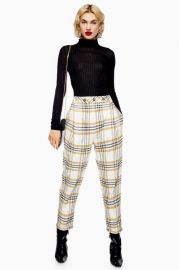 Three Button Tapered Trousers at Topshop