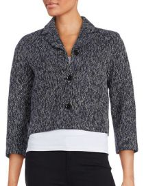 Three-Button Tweed Jacket at Lord & Taylor