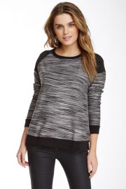 Three Dots Contrast Boxy Sweatshirt at Nordstrom Rack