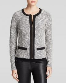 Three Dots Metallic Tweed Jacket at Bloomingdales