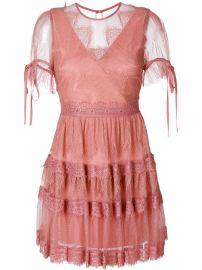 Three Floor Lace Tiered Dress at Farfetch