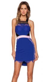 Three Floor True Say Dress in Klein Blue and Black  REVOLVE at Revolve