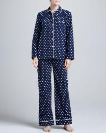 Three J New York Jamie Polka-Dot Pajamas at Neiman Marcus