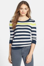 Three Quarter Sleeve Sweater Petite at Nordstrom Rack