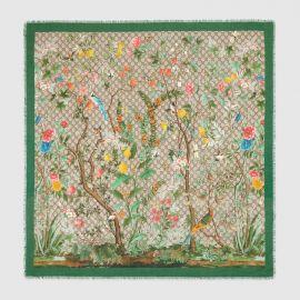 Tian modal silk shawl at Gucci