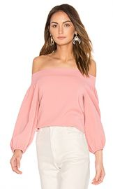 Tibi Off Shoulder Top in Pitaya Pink from Revolve com at Revolve