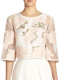Tibi - Ayame Fil Coupe Beaded Cropped Top at Saks Fifth Avenue