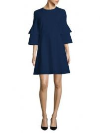 Tibi - Crepe Bell-Sleeve Dress at Saks Fifth Avenue
