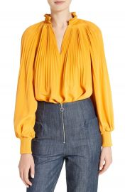 Tibi Edwardian Cr  pe de Chine Tunic Top at Nordstrom