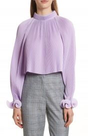 Tibi Pleated Crop Top at Nordstrom
