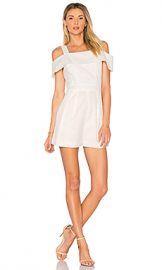 Tibi Seersucker Short Romper in White from Revolve com at Revolve