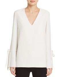 Tie-Detail Flare-Cuff Top by Dylan Gray at Bloomingdales