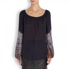Tie Dye Blouse by L Agence at Net A Porter