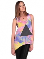 Tie Dye Pyramid tee by Chaser at Pink Mascara