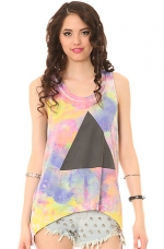 Tie Dye Pyramid top by Chaser at Karmaloop