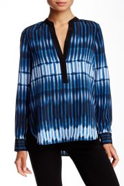Tie-Dye Striped Silk Blouse at Nordstrom Rack