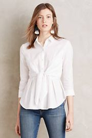 Tie-Front Buttondown at Anthropologie